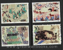 China Stamps - 1988, T126 , Scott 2149-52 Dunhuang Murals (2nd Series), MNH-VF, fresh dealer stocks - (92149)