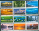 China Stamps - 2004-24, Scott 3394-3405 Frontier Scenes of China  - MNH, F-VF - (93394)