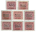 China Stamps - 1948, Sc J102-9, Postal Due Stamps, MLH, F-VF - (9C00G)