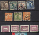 China Stamps - Pre-1949 , 11 Different Stamps - Used + Mint - (9C0FP)