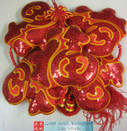 "Chinese New Year Decorative Good Luck Hanging - size 43"" Long (measured from top to bottom excluding tassels) (WX93)"