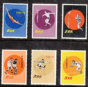 Taiwan Stamps : 1960, Taiwan stamps TW S18 Scott 1284 - 9 Sports Stamps , MNH, F-VF  - (9T031) - (9T031)