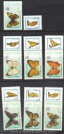 Vietnam Stamps - 1989, Sc 1924-30, Buterfly - MNH, F-VF (one issue detached, see image) - (9N06N)