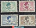 Vietnam Stamps - 1956, Sc 39-42, Tran Dang Ninh, Guyerrilla Leader - MNH, F-VF - (9N084)