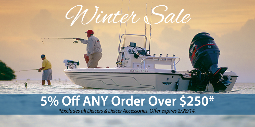 SavvyBoater Winter Sale: 5% Off ANY Order Over $250