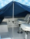 Standard boat cover support pole