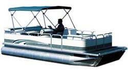 Bimini top for pontoon boats