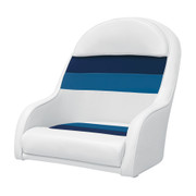 Wise Deluxe Pontoon Bucket seat in White/Navy/Blue