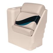Wise Premier Pontoon Lean Back Recliner in Platinum/Round Midnight/Cobalt