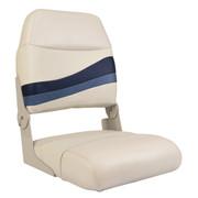 Wise Premier Pontoon Boa seat in Platinum/Round Midnight/Cobalt