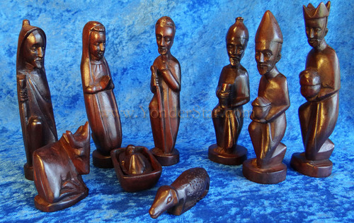 Musave Wood Nativity Set Rwanda