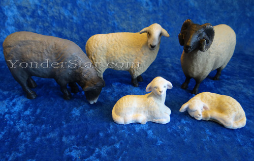 Sheep Set for Henning Wooden Nativity Norway