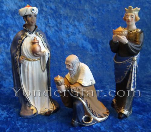 Three Wisemen Henning Wooden Nativity Norway