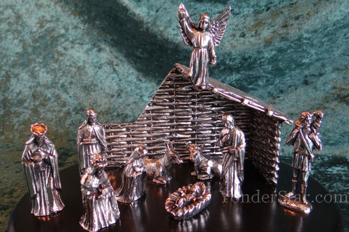 pewter nativity