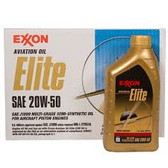 EXXON OIL ELITE 20W-50 (12X1QT=12X0.946LT)