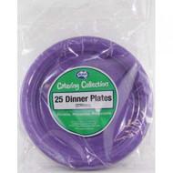 Purple Plastic Plate - Pkt 25 x 23cm