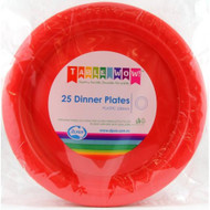 Red Plastic Plate - Pkt 25 x 23cm
