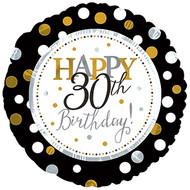 "#30 ""Happy 30th"" - 43cm Flat Foil"