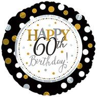 "#60 ""Happy 60th"" - 43cm Flat Foil"