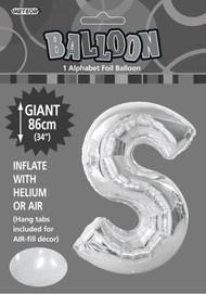 86cm Flat Alphaloon - Silver S