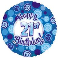 """#21 Glitzy """"Blue"""" - 45cm Flat Foil"""