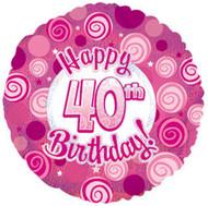 """#40 Glitzy """"Pink"""" - 45cm Flat Foil"""