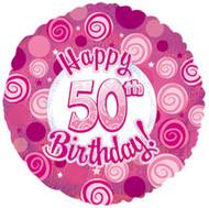 """#50 Glitzy """"Pink"""" - 45cm Flat Foil"""