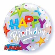 """Birthday """"Brilliant Stars"""" - Inflated 22"""" Bubble"""