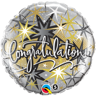"Congrats ""Elegant"" - 45cm Inflated Foil"
