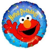 Elmo Birthday - Inflated Foil
