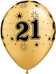 28cm #21 Print - Black on Gold