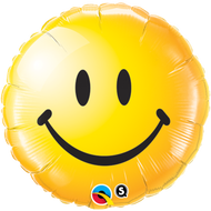 Smiley Face Yellow - 45cm Flat Foil
