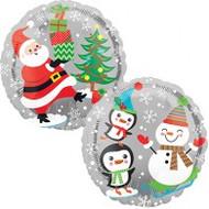 "Inflated 45cm Foil - ""Santa & Snowman"""