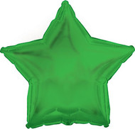 Inflated 43cm Foil - Solid Green Star