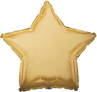Gold Star - 43cm Inflated Foil