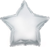 Silver Star - 43cm Inflated Foil
