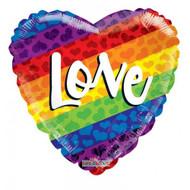 "ILY ""Rainbow Heart"" - 45cm Inflated Foil"
