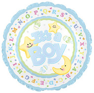 """Baby Boy """"Moon & Stars"""" - Inflated Large Shape"""