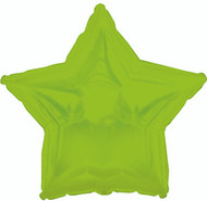 43cm Inflated Foil Star - Lime