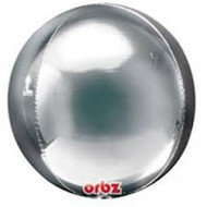 """Inflated Round Foil """"Orbz"""" - Silver"""
