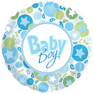 Baby Boy - 43cm Inflated Foil