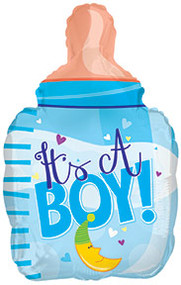 """Baby Boy """"Bottle"""" - 22"""" Inflated Shape"""