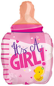 """Baby Girl """"Bottle"""" - 22"""" Inflated Shape"""