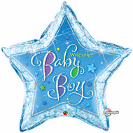 """Baby Boy """"Welcome"""" - 90cm Inflated Large Shape"""