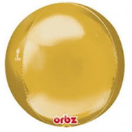 """Round Foil """"Gold Orbz"""" - Flat Pack of 3"""