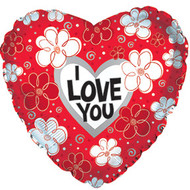 "9"" CTI Foil - ILY ""Red & White Daisies"""
