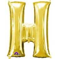 86cm Flat Alphaloon - Gold H