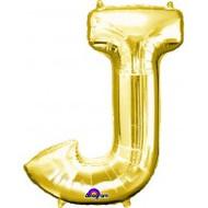 86cm Flat Alphaloon - Gold J
