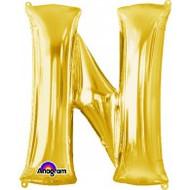 86cm Flat Alphaloon - Gold N