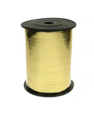 5mm x 450mtr Gold Metallic Curl Ribbon
